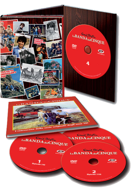 Dynit S.r.l.: DVD-Cover von 'La Banda dei Cinque Collector's Box' (Eps 01-26) (4 DVD)