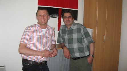 Karl Kolar with CEO Walter Potganski of moviemax GmbH movies & more